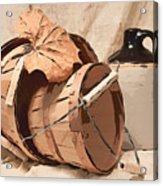 Baskets With Crock I Acrylic Print by Tom Mc Nemar