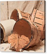 Baskets With Crock II Acrylic Print