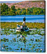 Bass Fishing Acrylic Print