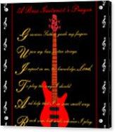 Bass Guitar_2 Acrylic Print by Joe Greenidge