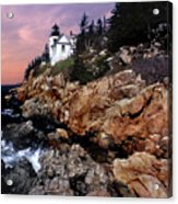 Bass Harbor Head Lighthouse In Maine Acrylic Print by Skip Willits