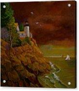 Bass Harbor Light Mt Desert Maine Acrylic Print