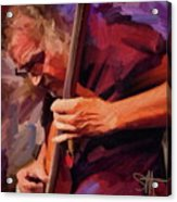 Bass Player Acrylic Print