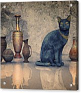 Bastet And Pottery Acrylic Print