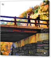 Bastion Falls Bridge 1 Acrylic Print