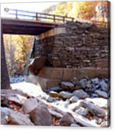 Bastion Falls Bridge 4 Acrylic Print