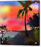 Echo Beach, Bali Acrylic Print