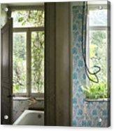 Bath Room Windows -urban Exploration Acrylic Print