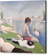 Bathers At Asnieres Acrylic Print by Georges Pierre Seurat