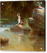 Bathers At The River. Evening In Orinoco? Acrylic Print