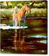 Bathing Acrylic Print