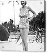 Bathing Suit Made Of Currency Acrylic Print