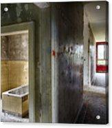 Bathroom In Deserted Building Acrylic Print