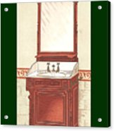 Bathroom Picture Wash Stand One Acrylic Print
