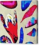 Batik Bouquet Acrylic Print