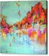 Batik Fall Silk Scarf Acrylic Print