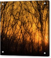 Batik Sunset Acrylic Print