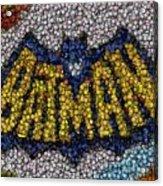 Batman Bottle Cap Mosaic Acrylic Print
