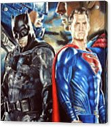 Batman V Superman Acrylic Print