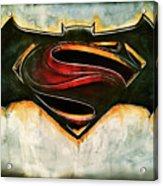 Batman Vs Superman Acrylic Print