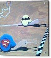 Batman Vs Superman Snail Acrylic Print
