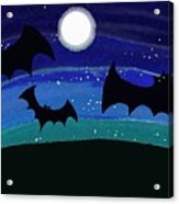 Bats At Night Acrylic Print