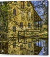 Batsto Gristmill Reflection Acrylic Print