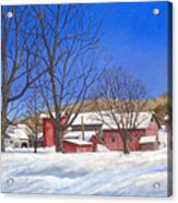 Batteases Farm In Winter Acrylic Print