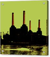 Battersea Power Station London Acrylic Print by Jasna Buncic