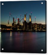 Battersea Power Station On The Thames, London Acrylic Print