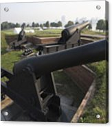 Battery Of Cannons At Fort Mchenry Acrylic Print