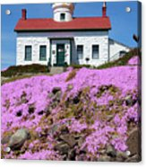 Battery Point Lighthouse In Crescent City Acrylic Print