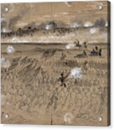 Battle Of Fredericksburg Acrylic Print by Granger