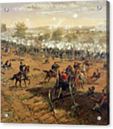 Battle Of Gettysburg Acrylic Print by Thure de Thulstrup