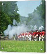 Battle Of Monmouth-redcoats Acrylic Print