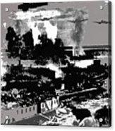 Battle Of Stalingrad Nazi Plane Crossing Volga River 1942 Acrylic Print