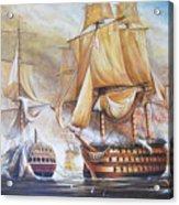 Battle Of Trafalger Acrylic Print