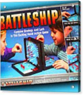 Battleship Board Game Painting  Acrylic Print