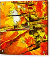 Star Wars X-wing Fighter - Oil Acrylic Print