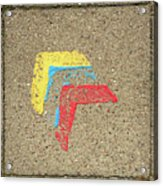 Bauhaus Symbol Paving Stone Acrylic Print