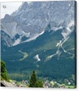 Bavarian Alps With Shed Acrylic Print