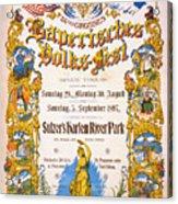 Bavarian Volksfest New York Vintage Poster 1897 Acrylic Print