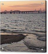 Bay At Sunset Acrylic Print