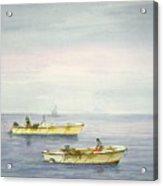 Bay Boats Scalloping Acrylic Print