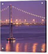 Bay Bridge At Dusk Acrylic Print by Sean Duan