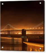 Bay Bridge At Night Acrylic Print
