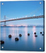 Bay Bridge Blues, San Francisco Acrylic Print
