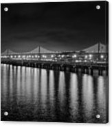 Bay Bridge San Francisco California Black And White Acrylic Print