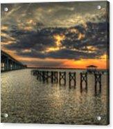 Bay Bridge Sunset Acrylic Print