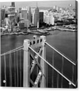 Bay Bridge Tower And San Francisco Skyline Acrylic Print